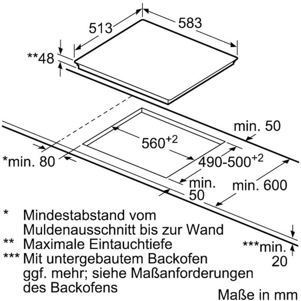 NEFF Elektro-Kochfeld von SCHOTT CERAN® »T16BT76N0«, T16BT76N0, mit TwistPad® Bedienung