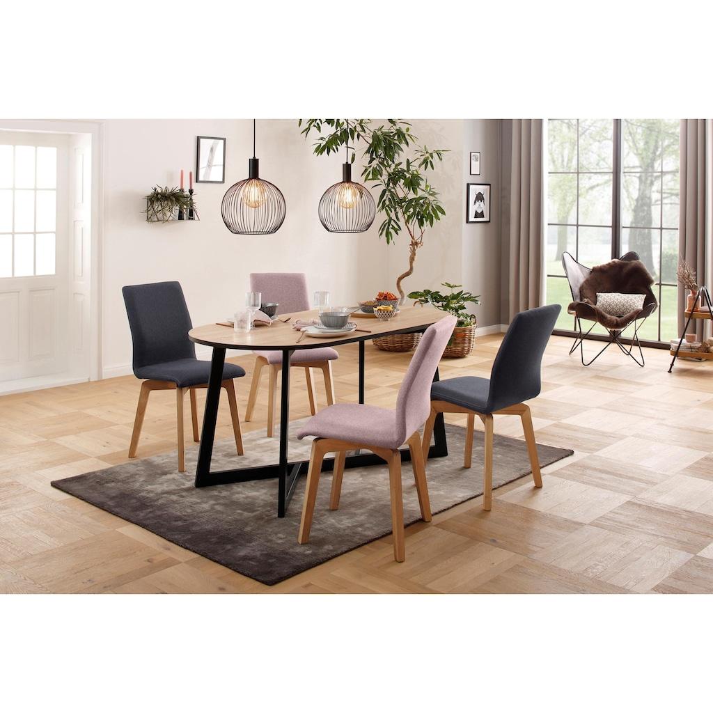 my home Polsterstuhl »Nola«, Bezug mit Feinstruktur, im 2er-Set