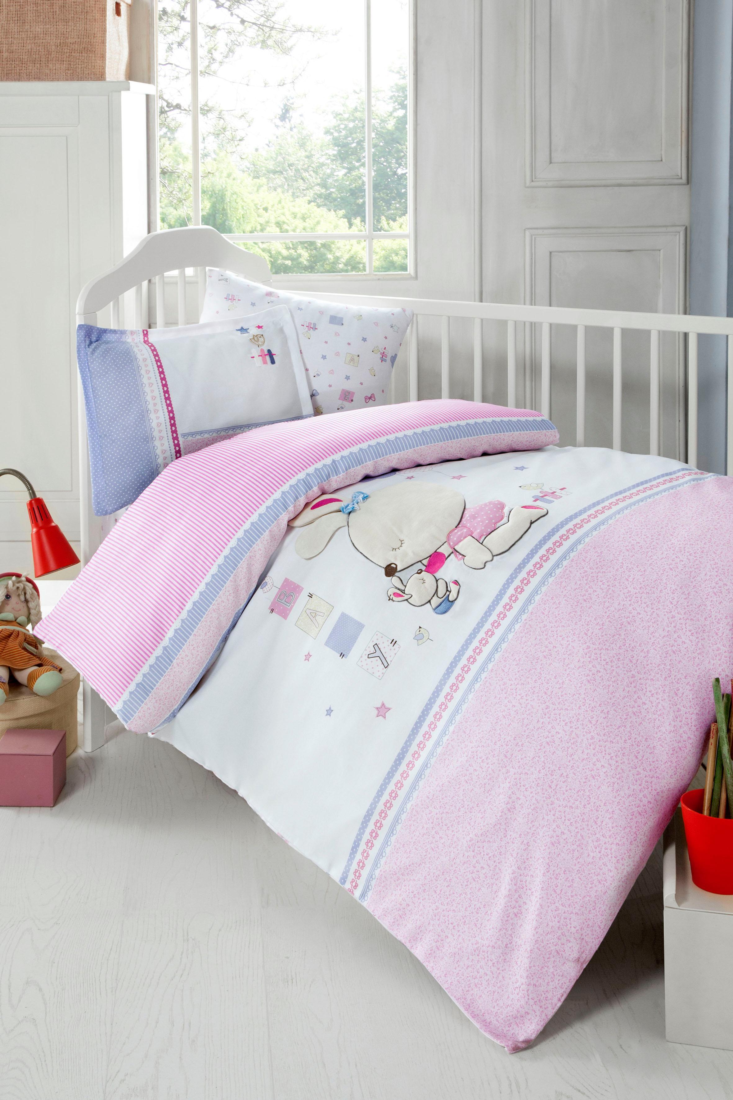 Babybettwäsche »Minni«, SEI Design | Kinderzimmer > Textilien für Kinder > Kinderbettwäsche | Rosa | Baumwolle | SEI DESIGN