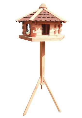 promadino Vogelhaus »Knusperhäuschen«, BxTxH: 59x57x143,5 cm, mit Standbein kaufen