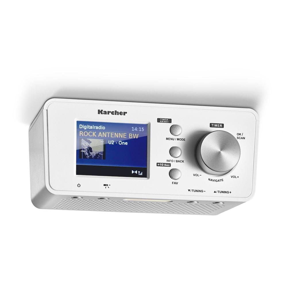 Karcher Küchen-Radio »RA 2035D«, (Bluetooth-CD UKW mit RDS-Digitalradio (DAB+) 1.5 W), (DAB+ / UKW, Dual-Alarm)