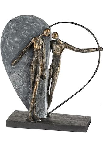 Casablanca by Gilde Dekofigur »Skulptur Herzklopfen, bronzefarben/grau«, Dekoobjekt,... kaufen