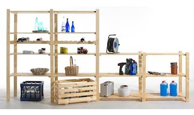 Sz Metall Anbauregal mit 3 Böden, für Holz - Allzweckregal kaufen