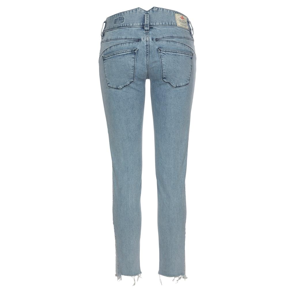 Herrlicher 7/8-Jeans »PEARL SLIM STRIPE CROPPED«