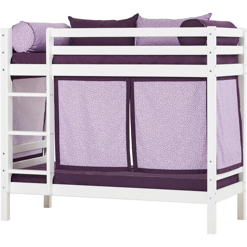 Hoppekids Etagenbett »Beautiful Bloom«, (Set, 4 tlg., Bett, Vorhang und zwei Matratzen)