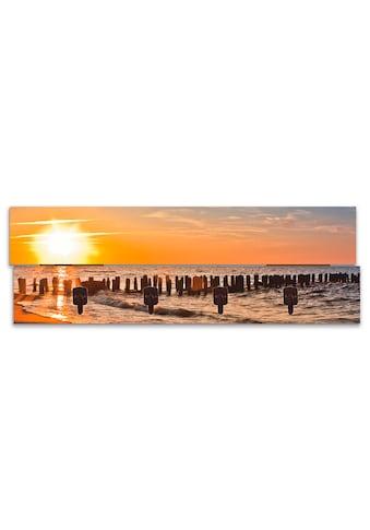 Artland Garderobenpaneel »Schöner Sonnenuntergang am Strand« kaufen