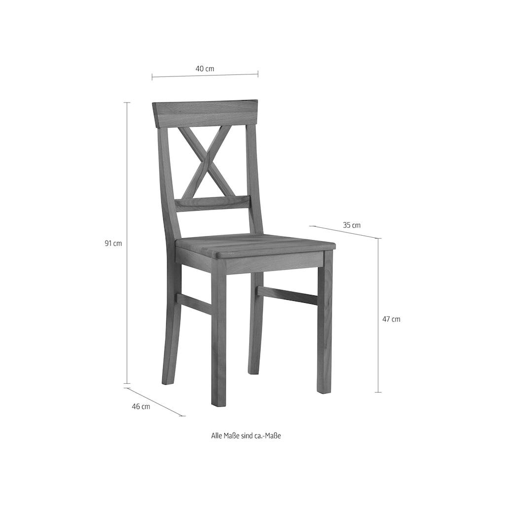 Premium collection by Home affaire 4-Fußstuhl »Lukas«, im 2er-Set