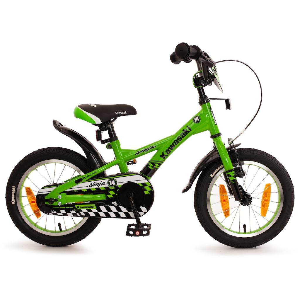 "Bachtenkirch Mountainbike »14"" Kinderfahrrad ""KAWASAKI - Ninja"", grün/schwarz«"