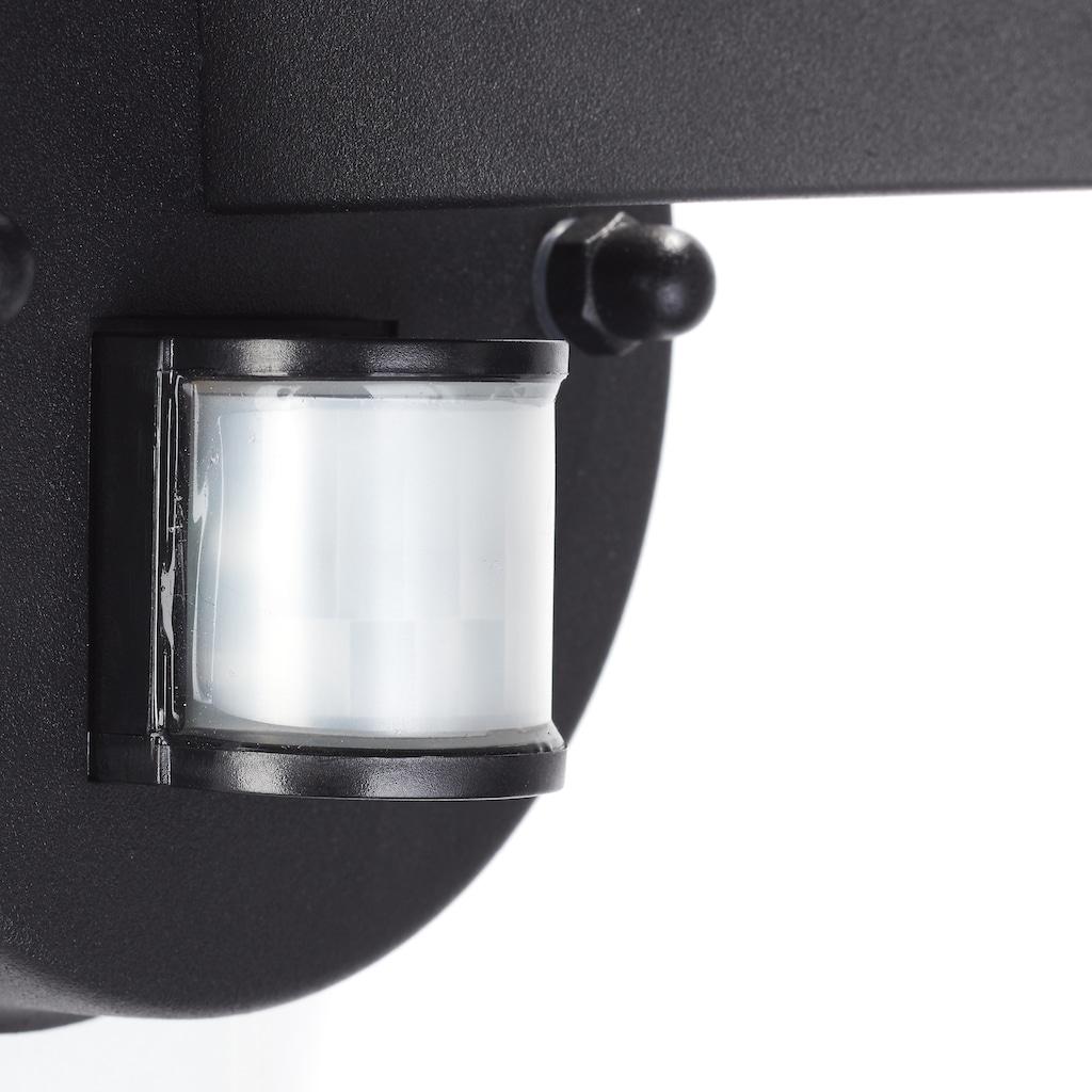 Brilliant Leuchten York Außenwandleuchte stehend Bewegungsmelder schwarz