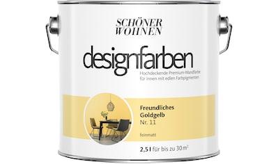 SCHÖNER WOHNEN-Kollektion Wand- und Deckenfarbe »Designfarben«, Freundliches Goldgelb... kaufen