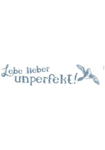 KOMAR Packung: Wandtattoo »Lebe lieber unperfekt«, 4 - teilig kaufen