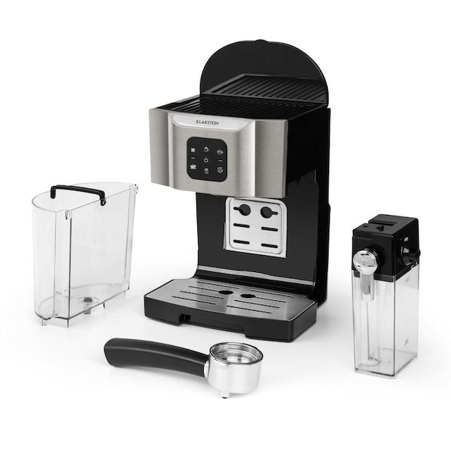 Klarstein Kaffeemaschine 1450 W 20 Bar Milchschäumer 3in1 grau »BellaVita«