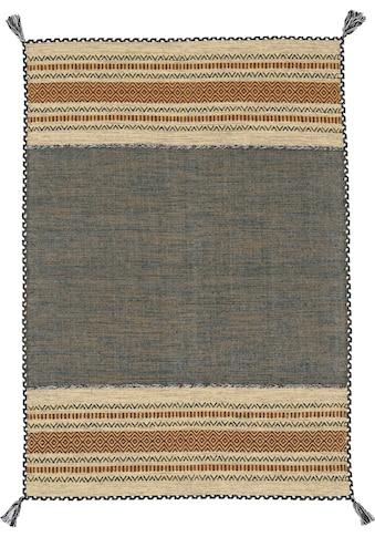 carpetfine Teppich »Kelim Azizi«, rechteckig, 5 mm Höhe, Baumwolle, Wendeteppich mit... kaufen