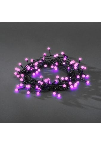KONSTSMIDE LED-Lichterkette, 80 St.-flammig, LED Globelichterkette, runde Dioden, 80... kaufen
