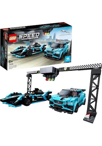 "LEGO® Konstruktionsspielsteine ""Formula E Panasonic Jaguar Racing GEN2 car & Jaguar I - PACE eTROPHY (76898), LEGO® Speed Champions"", Kunststoff, (565 - tlg.) kaufen"