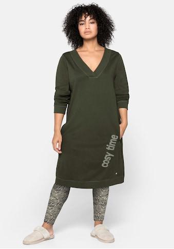 Sheego Shirtkleid, mit seitlichem Frontdruck und Eingrifftaschen kaufen