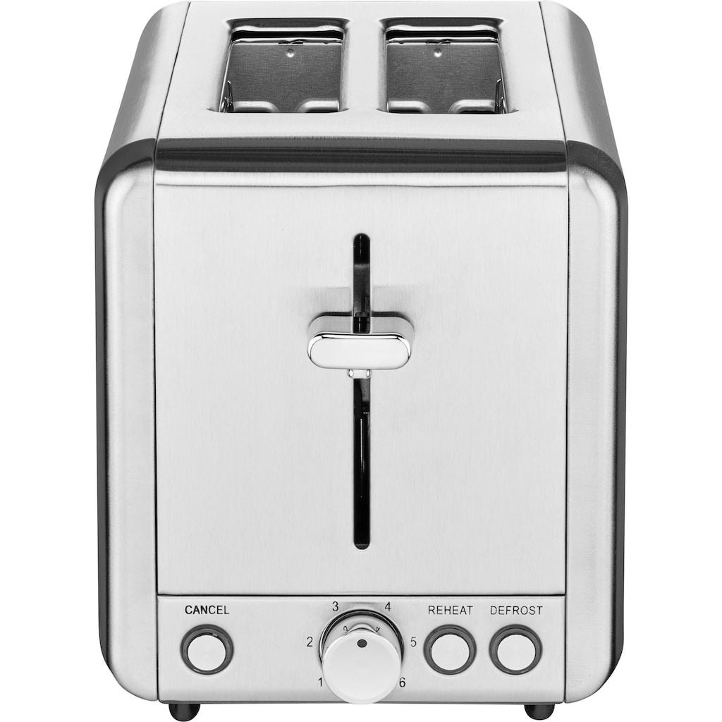 SOLIS OF SWITZERLAND Toaster »920.12 Steel Typ 8002«, 2 lange Schlitze, 925 W