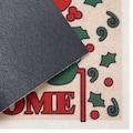 Home affaire Fußmatte »Welcome Weihnachtsmann«, rechteckig, 6 mm Höhe, Schmutzmatte, mit Spruch, In- und Outdoor geeignet