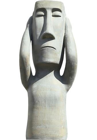 GILDE Dekofigur »Skulptur Nichts hören«, Dekoobjekt, Höhe 63 cm, aus Keramik, Wohnzimmer kaufen