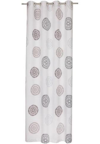 SCHÖNER WOHNEN-Kollektion Vorhang nach Maß »Daisy«, Ösenvorhang mit kreisförmigen Motiv kaufen