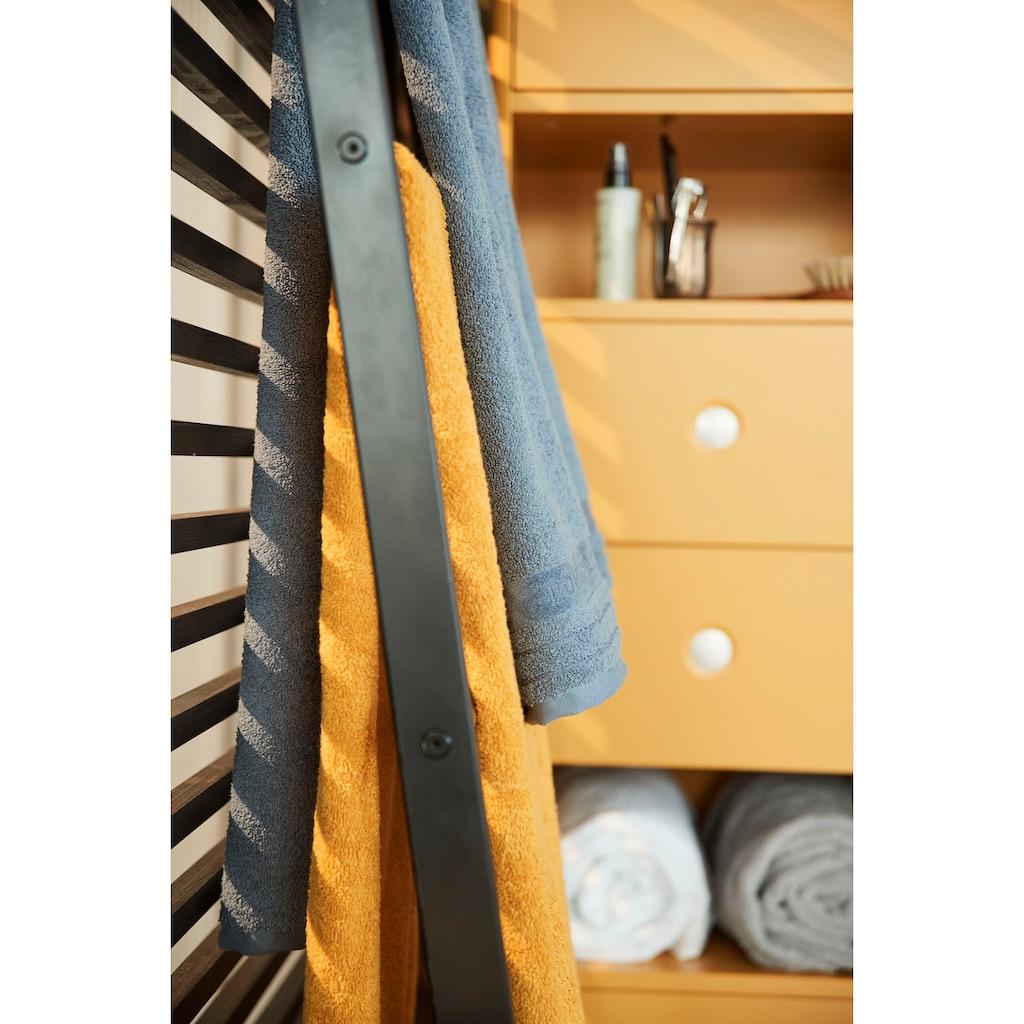 TOM TAILOR Hochschrank »COLOR BATH«, mit 2 Türen & 2 Schubladen, mit Push-to-Open, mit Füßen in Eiche geölt, Breite 40 cm