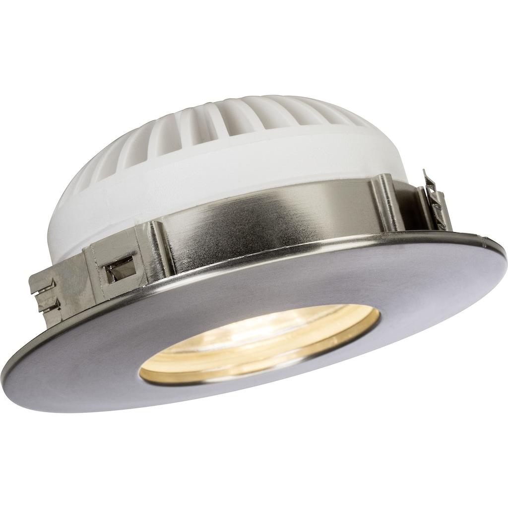 Brilliant Leuchten Nodus LED Einbauleuchtenset 3x fest eisen/warmweiß