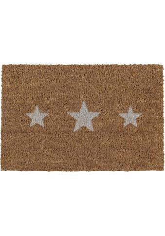 Andiamo Fußmatte »Kokos Sterne«, rechteckig, 17 mm Höhe, Schmutzfangmatte, Motiv... kaufen