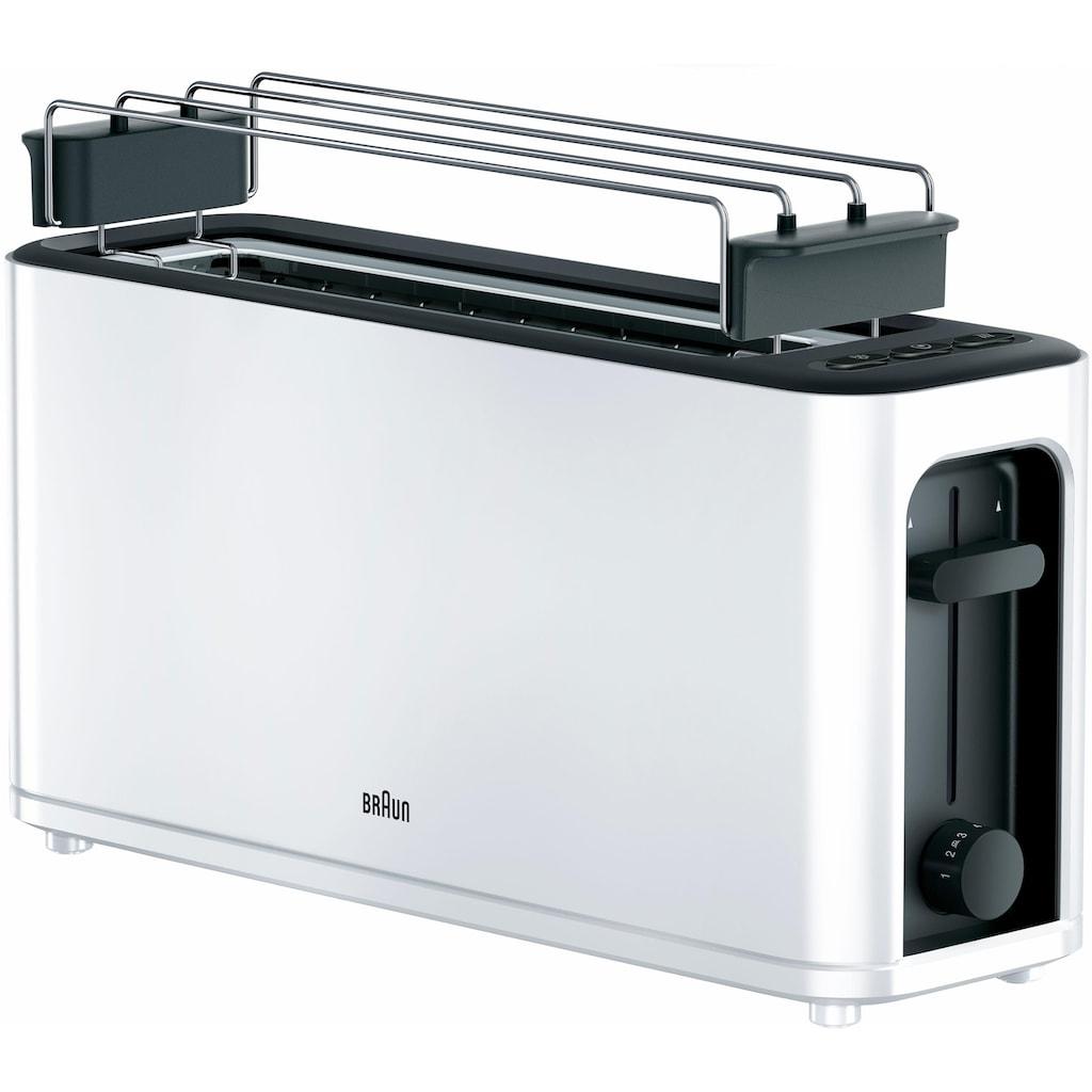 Braun Toaster »HT 3110 WH«, 1 langer Schlitz, für 2 Scheiben, 1000 W