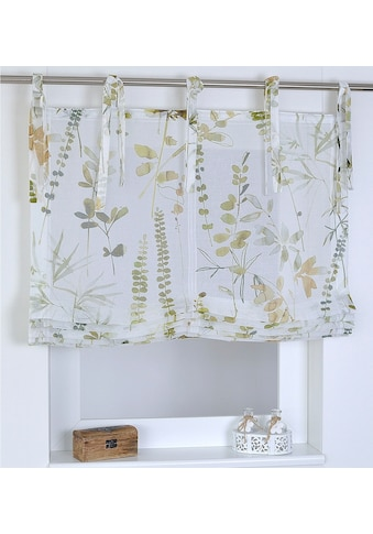 Raffrollo »Jungle«, Kutti, mit Bindebänder, freihängend kaufen