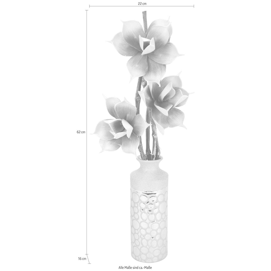 I.GE.A. Kunstblume »Soft-Rosenbund«, in Vase