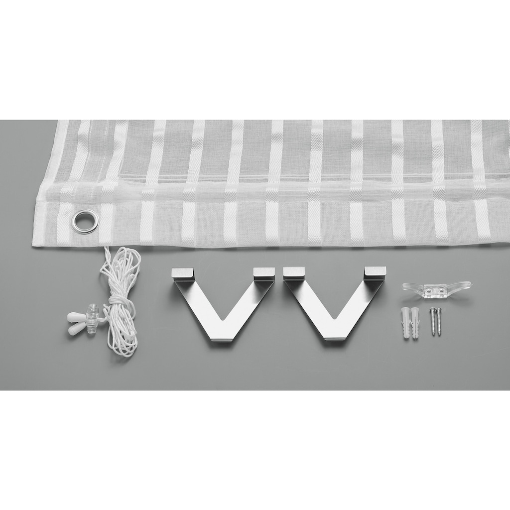 Good Life Raffrollo »Nia«, mit Hakenaufhängung, ohne Bohren, freihängend, zum Klemmen auf den Fensterrahmen - mit Metallhaltern