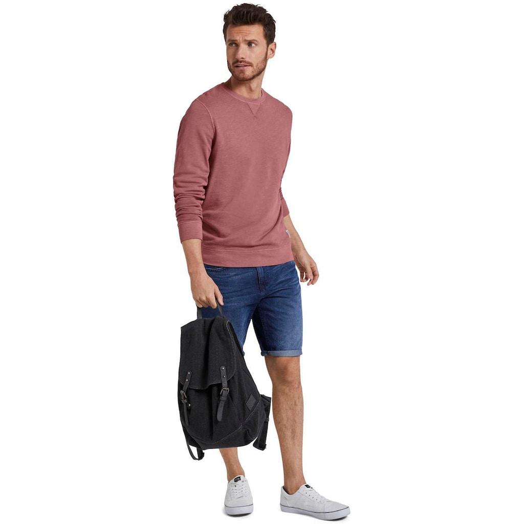 TOM TAILOR Sweatshirt, mit Label am Saum