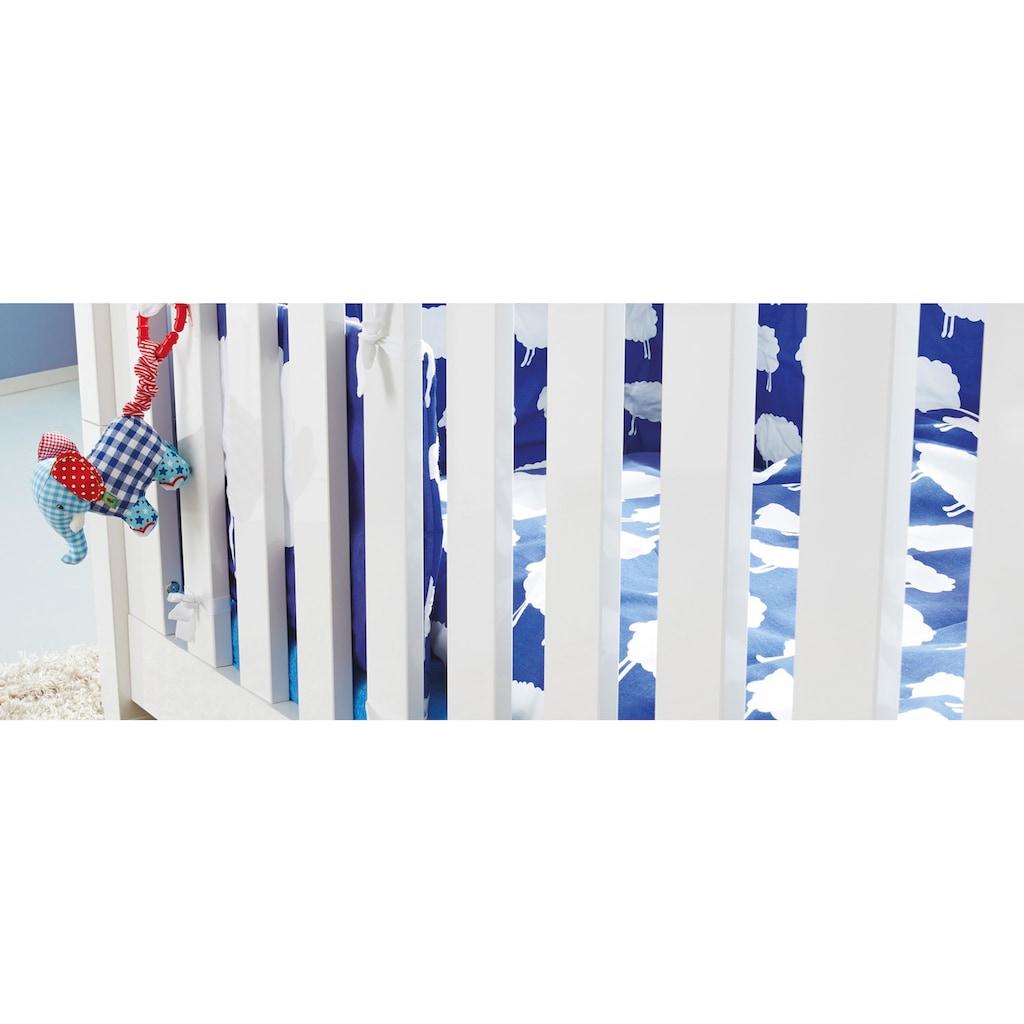Pinolino® Babyzimmer-Komplettset »Sky«, (Set, 3 St.), breit; bestehend aus Kinderbett, Wickelkommode und 2-trg. Schrank