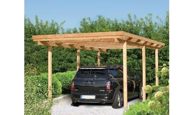 Kiehn-Holz Einzelcarport »Bamberg«, Holz, 259 cm, natur kaufen