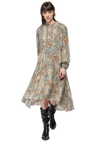 Replay Sommerkleid, im Boho-Stil mit Alloverprint & zarten Rüschendetails kaufen