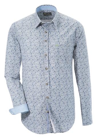 Murk Trachtenhemd mit modischem Blumenprint kaufen