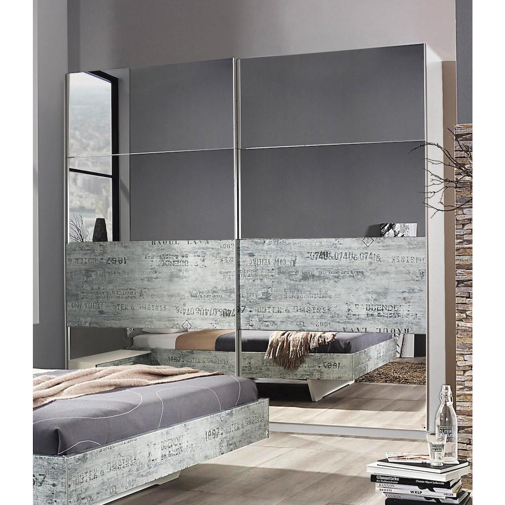 rauch ORANGE Schwebetürenschrank »Sumatra-Extra«, im Industrie-Look mit Spiegel