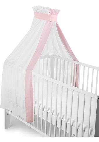 """Sterntaler® Betthimmel """"weiß - rosa, für Kinderbett"""" kaufen"""
