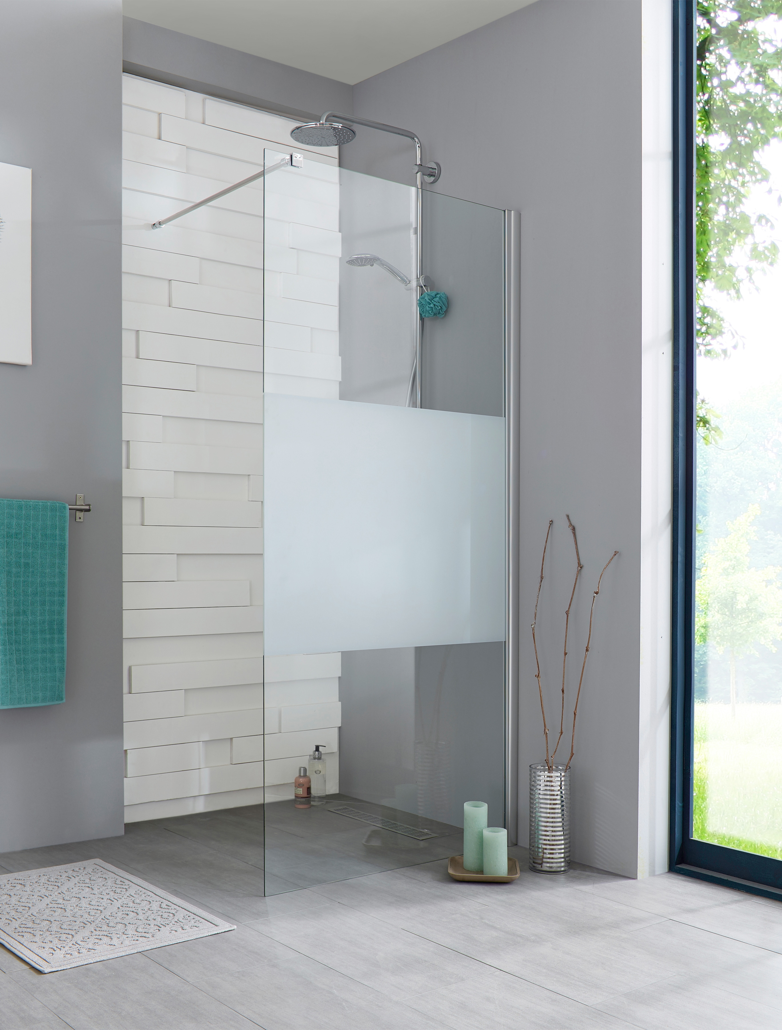 Walk-In Dusche »Relax«, Duschabtrennung Breite 100 cm günstig online kaufen