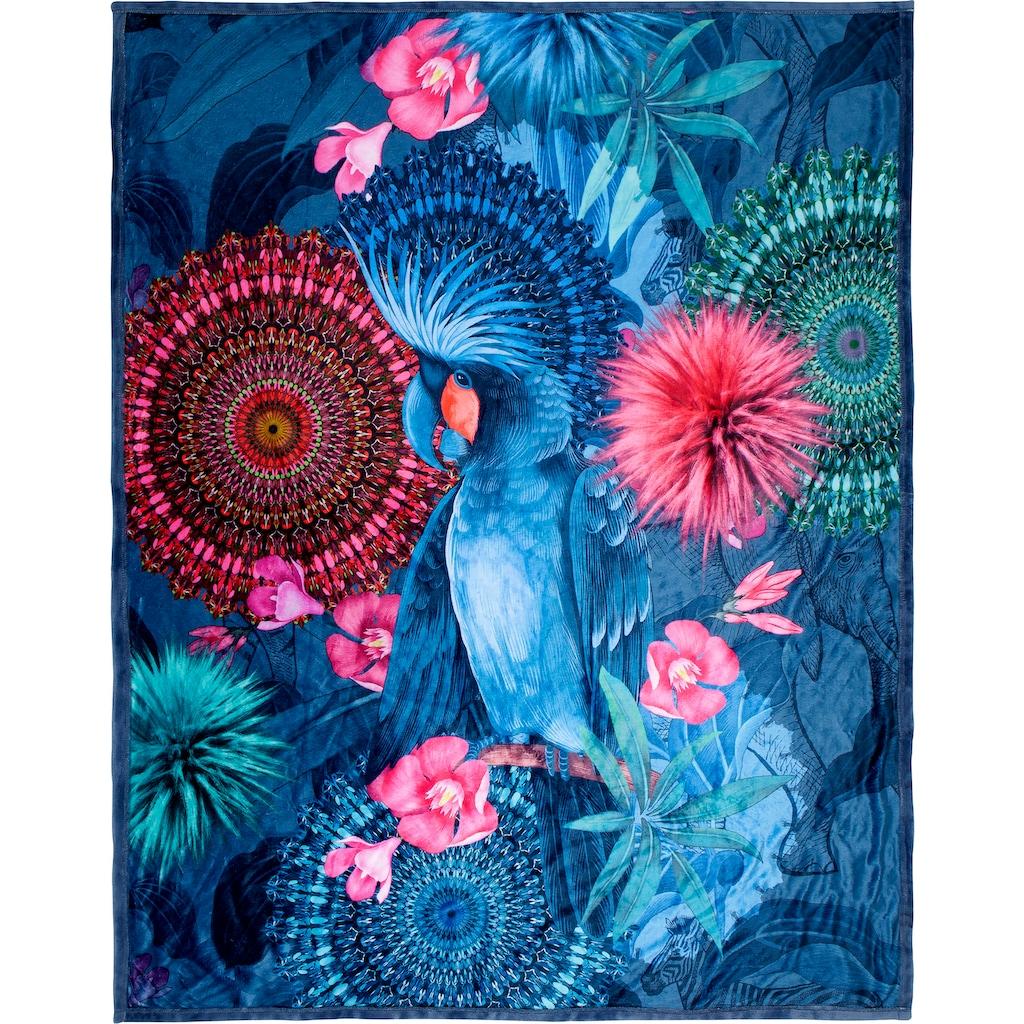 hip Plaid »Ofelia«, mit Mandalas und Blumen