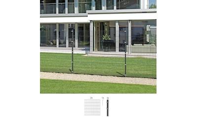 GAH Alberts Doppelstabmattenzaun, 100 cm hoch, 2 Matten für 4 m, 3 Pfosten kaufen