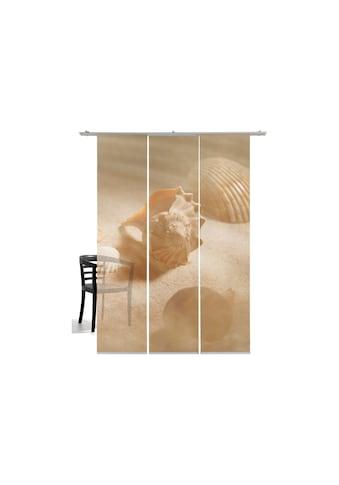 Schiebegardine, »Muscheln«, emotion textiles, Klettband 3 Stück kaufen