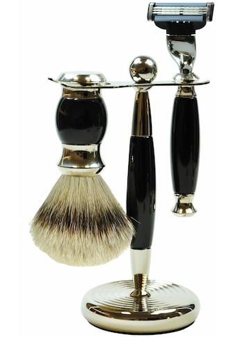 Golddachs Rasierset, 2 - tlg., mit Rasierer (Mach3) und Pinsel (Zupfhaar) kaufen
