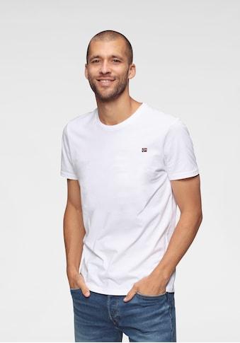 Napapijri T-Shirt »SALIS«, mit kleiner Flaggenstickerei kaufen