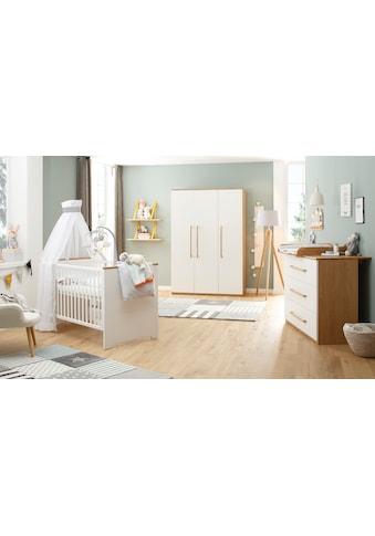 Babyzimmer - Komplettset »Tristan, weiß/eiche« (Set, 3 - tlg) kaufen