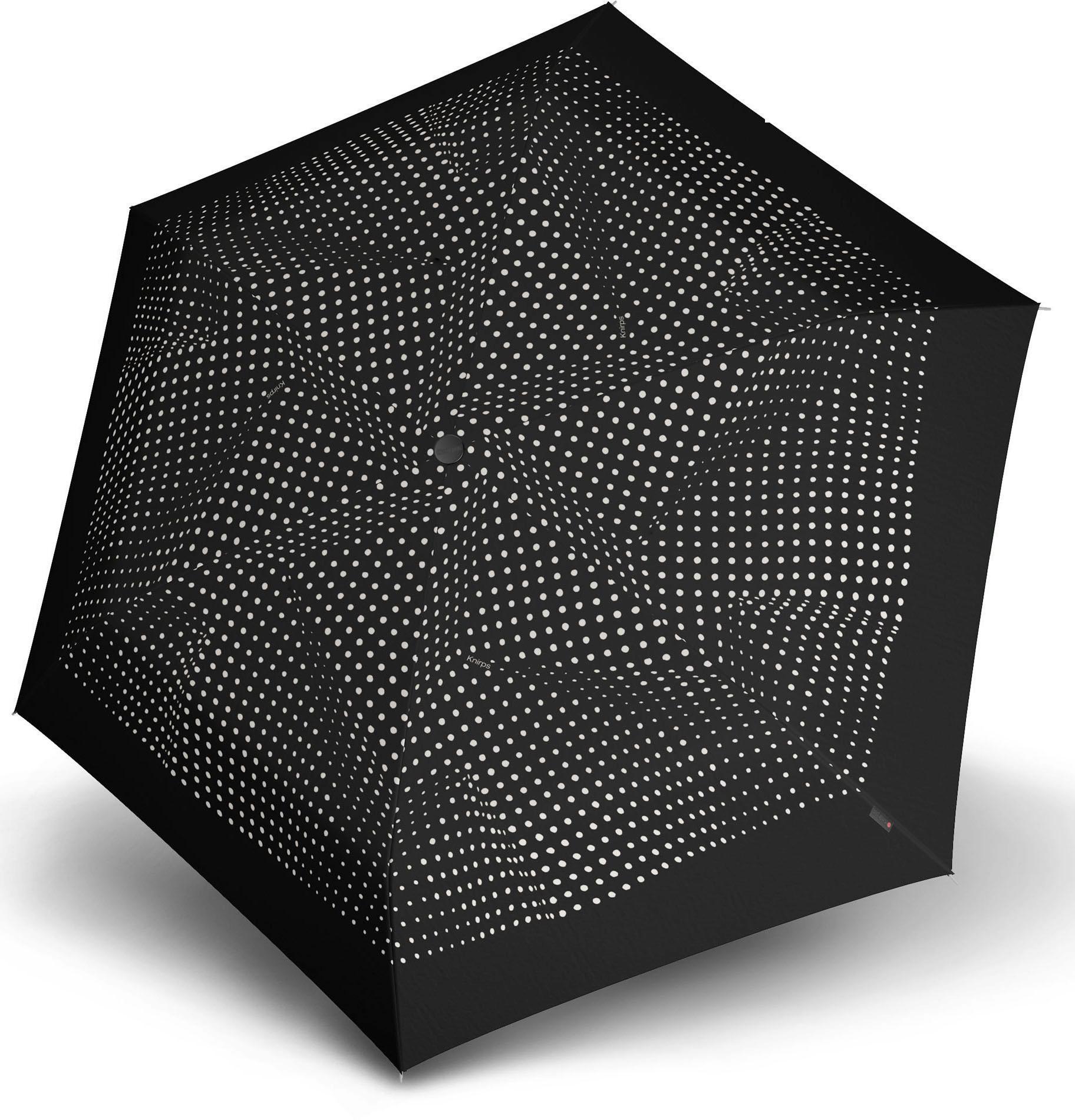 Knirps® Regenschirm - Taschenschirm, »TS.200 Slim Medium Duomatic bolero black/ecru« | Accessoires > Regenschirme > Taschenschirme | Schwarz | Wo | KNIRPS