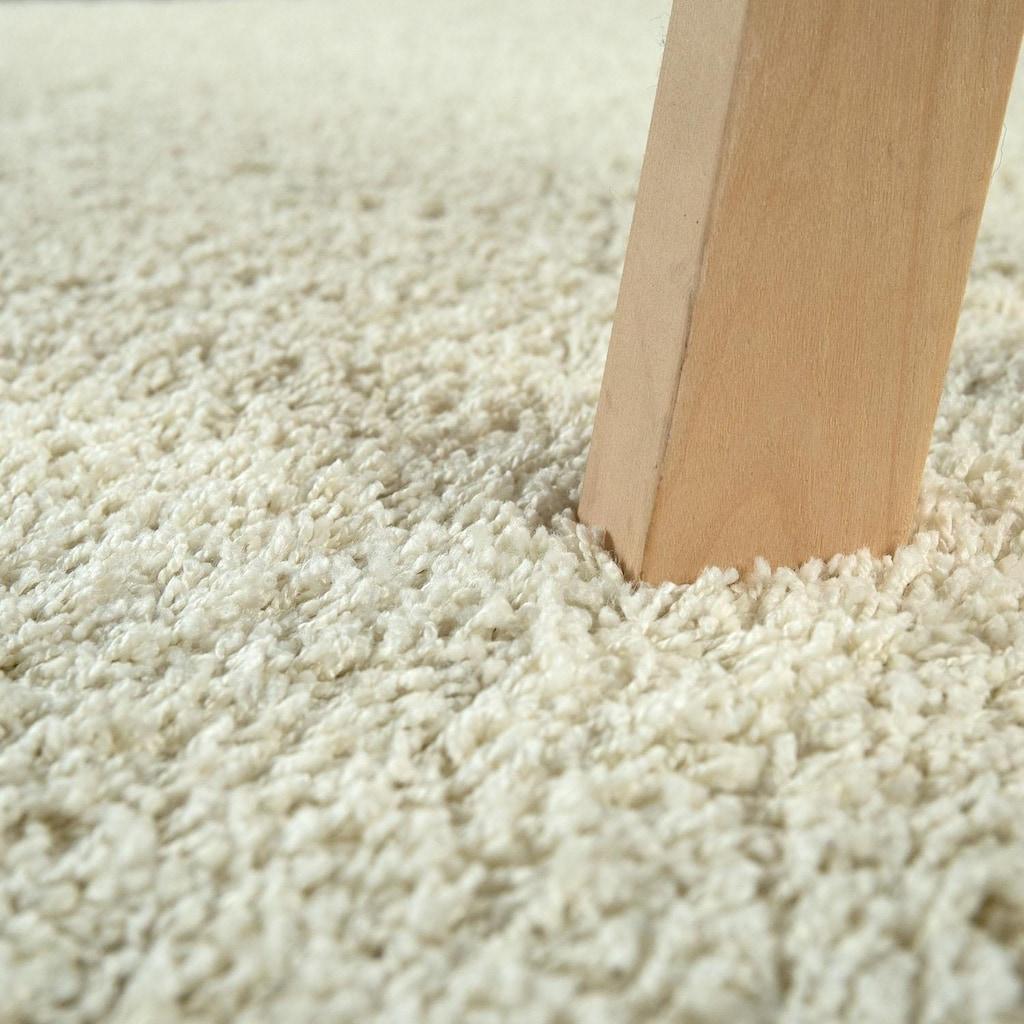 Paco Home Hochflor-Teppich »Vienna 200«, rechteckig, 25 mm Höhe, waschbarer Uni Hochflor Shaggy