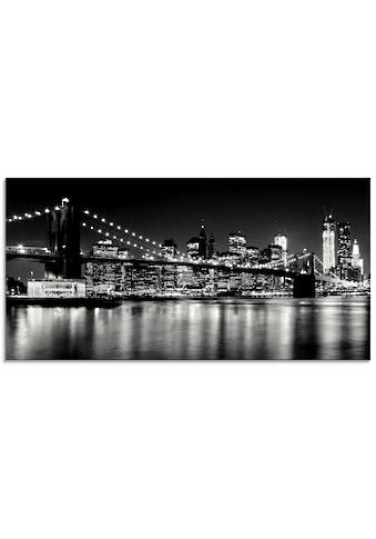 Artland Glasbild »Nächtliche Skyline Manhattan I«, Amerika, (1 St.) kaufen