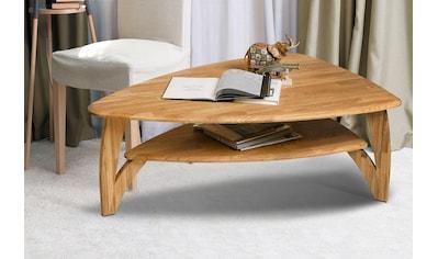 Home affaire Couchtisch »Oja«, ist aus massivem Eichenholz in ovaler Form, Breite 120 cm kaufen