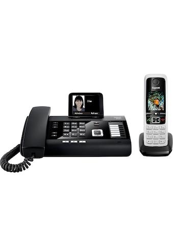 Gigaset Kabelgebundenes Telefon »DL500A + C430HX«, (Mobilteile: 1 LAN (Ethernet)-Bluetooth), Anrufbeantworter, Weckfunktion, Freisprechen kaufen